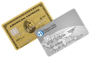 アメリカン・エキスプレスのクレジットカードとダイナーズのクレジットカード